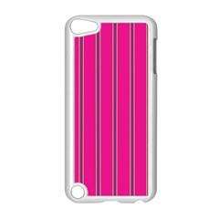 Pink Line Vertical Purple Yellow Fushia Apple Ipod Touch 5 Case (white) by Mariart