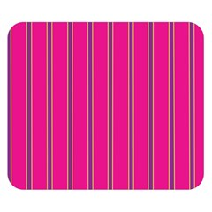 Pink Line Vertical Purple Yellow Fushia Double Sided Flano Blanket (small)  by Mariart