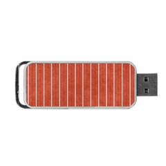 Line Vertical Orange Portable Usb Flash (two Sides) by Mariart