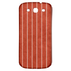 Line Vertical Orange Samsung Galaxy S3 S Iii Classic Hardshell Back Case by Mariart