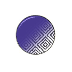Plaid Blue White Hat Clip Ball Marker (4 Pack) by Mariart