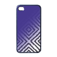 Plaid Blue White Apple Iphone 4 Case (black) by Mariart