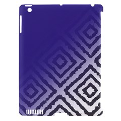 Plaid Blue White Apple Ipad 3/4 Hardshell Case (compatible With Smart Cover) by Mariart