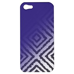 Plaid Blue White Apple Iphone 5 Hardshell Case by Mariart