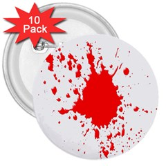 Red Blood Splatter 3  Buttons (10 Pack)  by Mariart