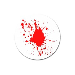 Red Blood Splatter Magnet 3  (round) by Mariart