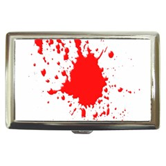 Red Blood Splatter Cigarette Money Cases by Mariart