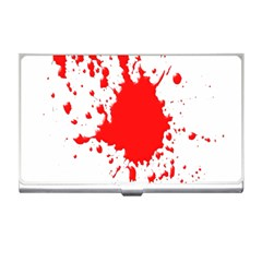 Red Blood Splatter Business Card Holders by Mariart