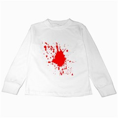 Red Blood Splatter Kids Long Sleeve T Shirts by Mariart