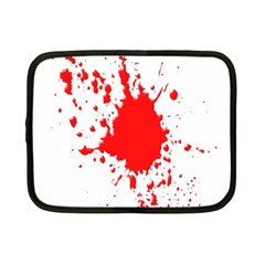 Red Blood Splatter Netbook Case (small)  by Mariart