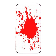 Red Blood Splatter Apple Iphone 4/4s Seamless Case (black) by Mariart