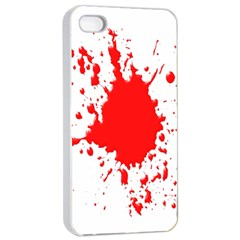 Red Blood Splatter Apple Iphone 4/4s Seamless Case (white) by Mariart