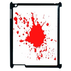 Red Blood Splatter Apple Ipad 2 Case (black) by Mariart