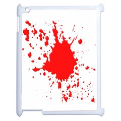 Red Blood Splatter Apple Ipad 2 Case (white) by Mariart