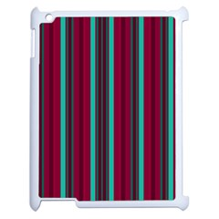 Red Blue Line Vertical Apple Ipad 2 Case (white) by Mariart