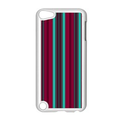 Red Blue Line Vertical Apple Ipod Touch 5 Case (white) by Mariart