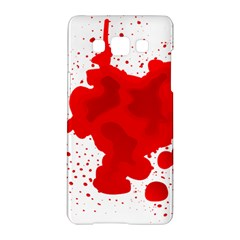 Red Blood Transparent Samsung Galaxy A5 Hardshell Case  by Mariart