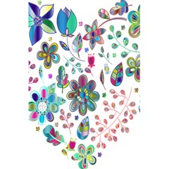 Prismatic Psychedelic Floral Heart Background 5 5  X 8 5  Notebooks by Mariart