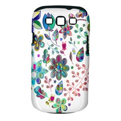 Prismatic Psychedelic Floral Heart Background Samsung Galaxy S Iii Classic Hardshell Case (pc+silicone) by Mariart
