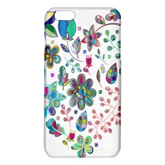 Prismatic Psychedelic Floral Heart Background Iphone 6 Plus/6s Plus Tpu Case by Mariart