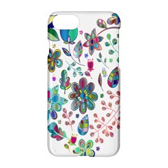 Prismatic Psychedelic Floral Heart Background Apple Iphone 7 Hardshell Case by Mariart