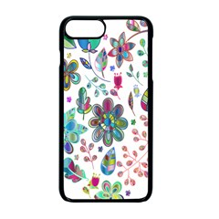 Prismatic Psychedelic Floral Heart Background Apple Iphone 7 Plus Seamless Case (black) by Mariart