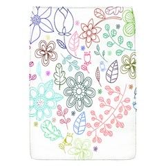Prismatic Neon Floral Heart Love Valentine Flourish Rainbow Flap Covers (s)  by Mariart