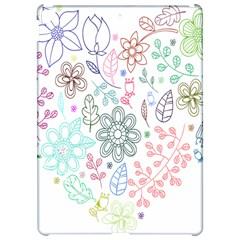 Prismatic Neon Floral Heart Love Valentine Flourish Rainbow Apple Ipad Pro 12 9   Hardshell Case by Mariart
