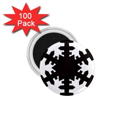 Snowflakes Black 1 75  Magnets (100 Pack)  by Mariart
