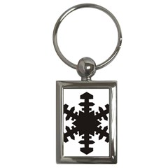 Snowflakes Black Key Chains (rectangle)  by Mariart