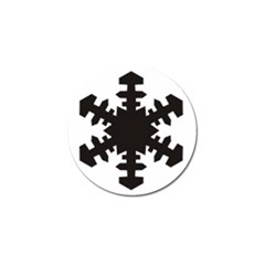 Snowflakes Black Golf Ball Marker by Mariart