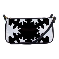 Snowflakes Black Shoulder Clutch Bags by Mariart