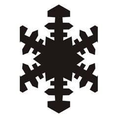 Snowflakes Black 5 5  X 8 5  Notebooks