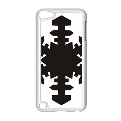 Snowflakes Black Apple Ipod Touch 5 Case (white) by Mariart