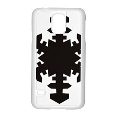 Snowflakes Black Samsung Galaxy S5 Case (white) by Mariart