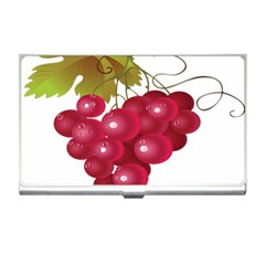 Red Fruit Grape Business Card Holders by Mariart