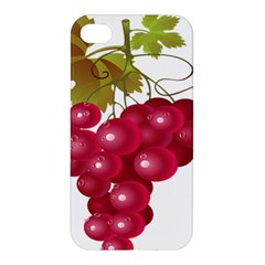 Red Fruit Grape Apple Iphone 4/4s Premium Hardshell Case by Mariart