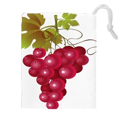 Red Fruit Grape Drawstring Pouches (xxl) by Mariart