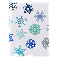Snowflakes Blue Green Star Apple Ipad 3/4 Hardshell Case (compatible With Smart Cover) by Mariart
