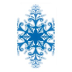 Snowflakes Blue Flower Memory Card Reader by Mariart