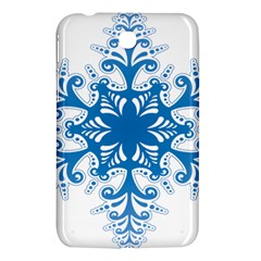 Snowflakes Blue Flower Samsung Galaxy Tab 3 (7 ) P3200 Hardshell Case  by Mariart