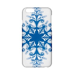 Snowflakes Blue Flower Apple Iphone 6/6s Hardshell Case by Mariart