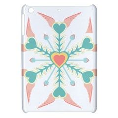 Snowflakes Heart Love Valentine Angle Pink Blue Sexy Apple Ipad Mini Hardshell Case by Mariart