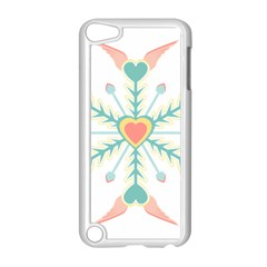 Snowflakes Heart Love Valentine Angle Pink Blue Sexy Apple Ipod Touch 5 Case (white) by Mariart