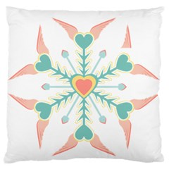 Snowflakes Heart Love Valentine Angle Pink Blue Sexy Standard Flano Cushion Case (two Sides) by Mariart