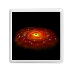 Space Galaxy Black Sun Memory Card Reader (square)  by Mariart