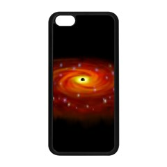 Space Galaxy Black Sun Apple Iphone 5c Seamless Case (black) by Mariart
