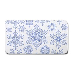 Snowflakes Blue White Cool Medium Bar Mats by Mariart