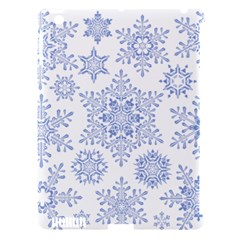 Snowflakes Blue White Cool Apple Ipad 3/4 Hardshell Case (compatible With Smart Cover) by Mariart