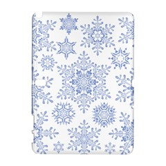 Snowflakes Blue White Cool Galaxy Note 1 by Mariart